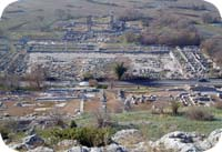 Ruins of Philippi. Destroyed by earthquake. Philippi was one of first places in Europe to receive Christianity